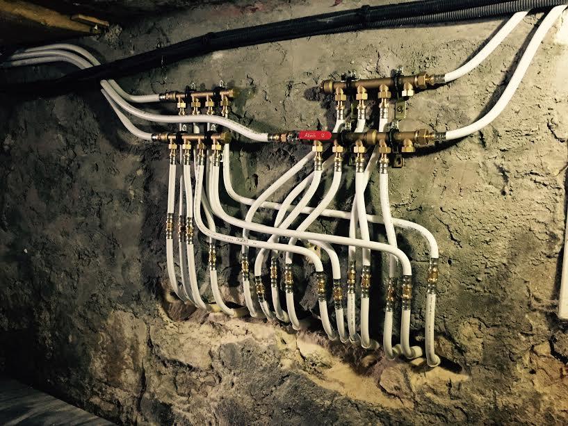 Installation tuyauterie